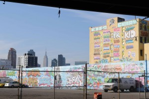 Graffiti is a predominantly urban phenomenon. The hulking outline of 5Pointz, covered in graffiti, is seen against the backdrop of the Empire State Building. Photo taken with a Nikon D7000.