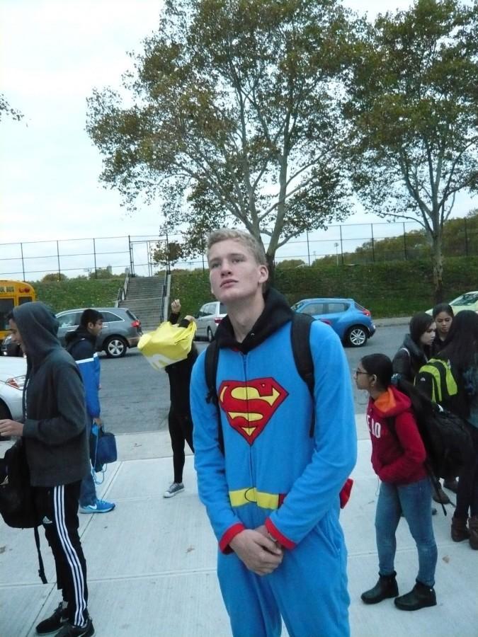 Willie Goetz '16 in a Superman costume