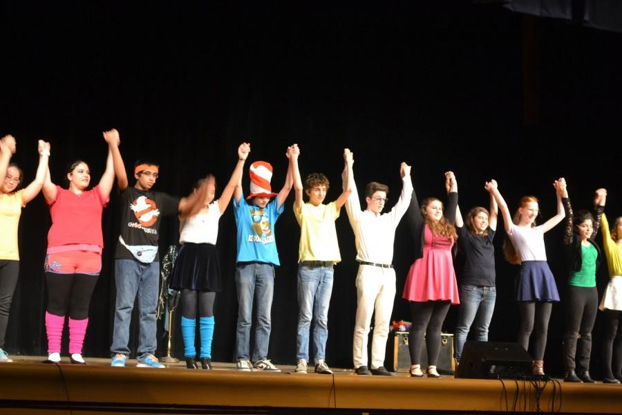 The underclassmen cast takes their final bow