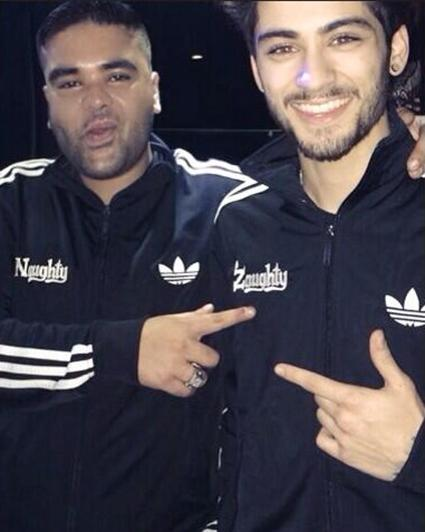 Former One Direction band member, Zayn Malik, (right) with his new music partner, Naughty Boy (left).