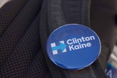 Milo Truppin's Clinton-Kaine pin.