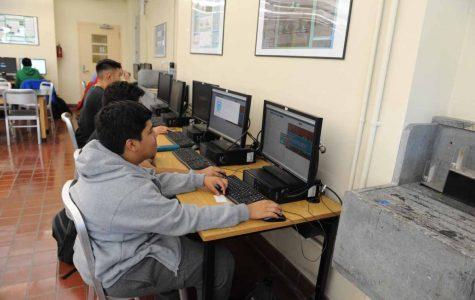 Members of the Hackathon team at work