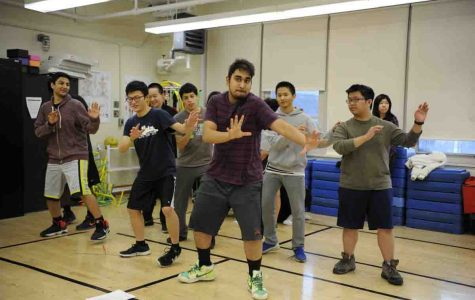Students in Ms. Dietrich's gym class try Bollywood Dancing.