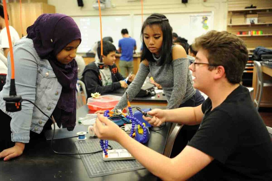 Students are actively involved in the  Bronx Science Makerspace initiative.