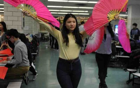 Deborah Ruiz '17 practices for the upcoming Lunar New Year production.