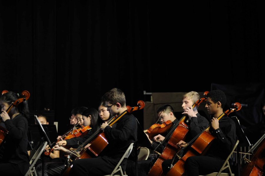 Students+in+the+Bronx+Science+Orchestra+perform+during+the+Winter+Concert.