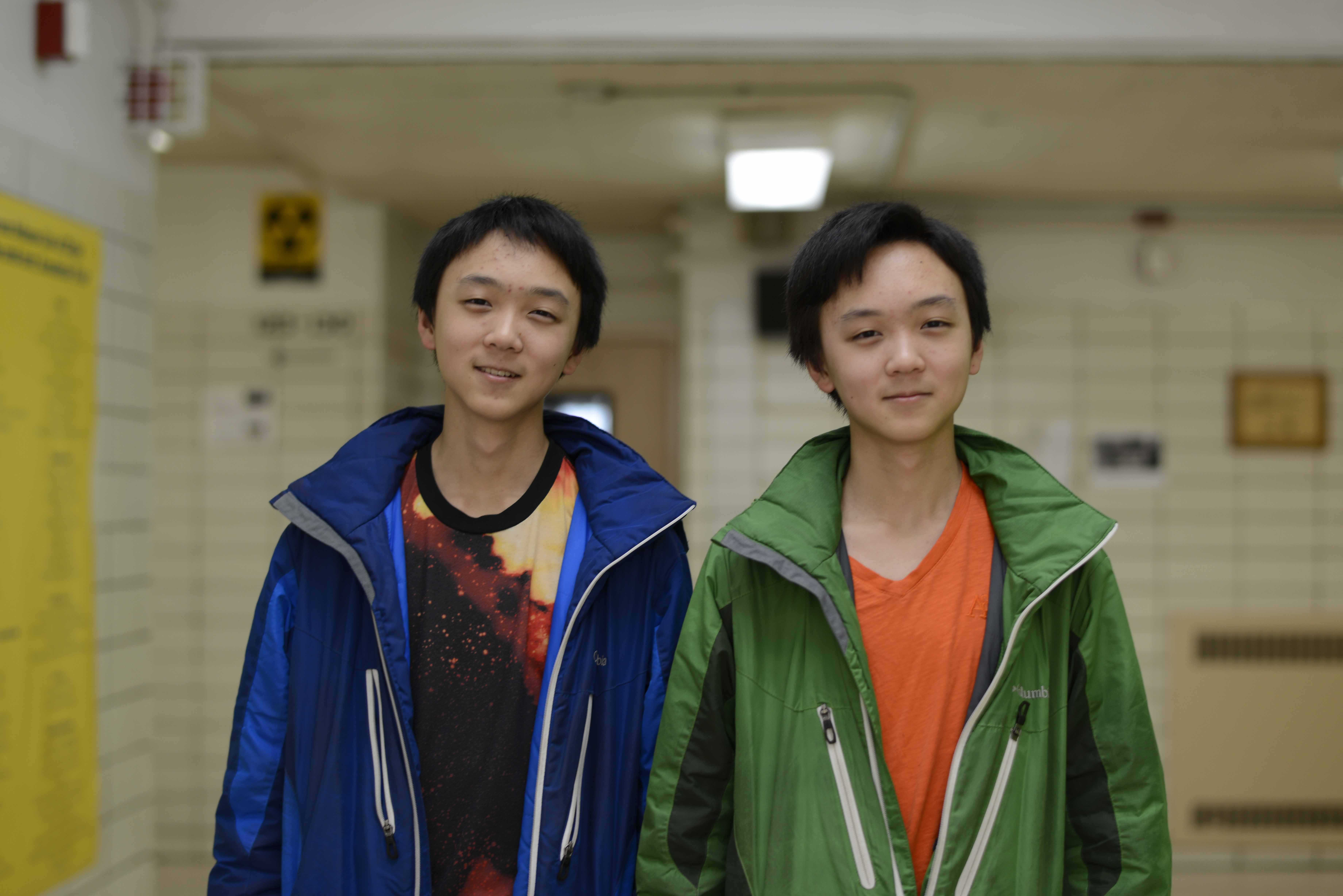 Twins Hans and John Hu heard about the competition through their father, who is a crystallographer. Their entry won 3rd place.