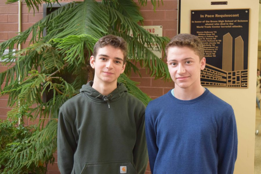 David Lipkin '18 (left) and Daniel Oestericher '18 (right) have been debate partners for nearly two years.