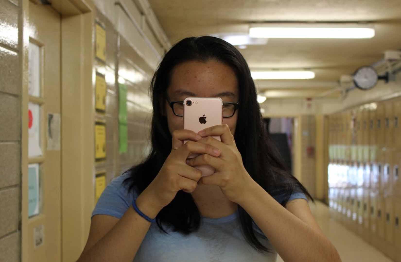 Megan Yin '18 is an avid user of the iPhone 7.