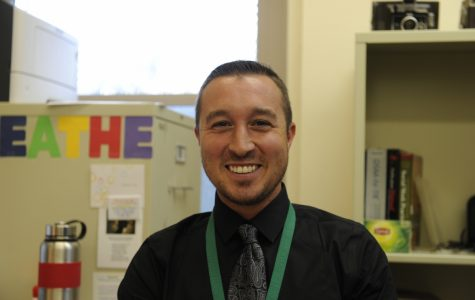 """Mr. Cogliano, our school's new social worker, encourages students to take a moment to """"breathe."""""""