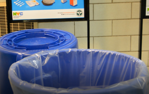 This blue recycling bin is just one component of the brand new new recycling system.