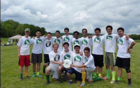 Members of the 2017-2018 Ultimate Frisbee Team at Bronx Science.