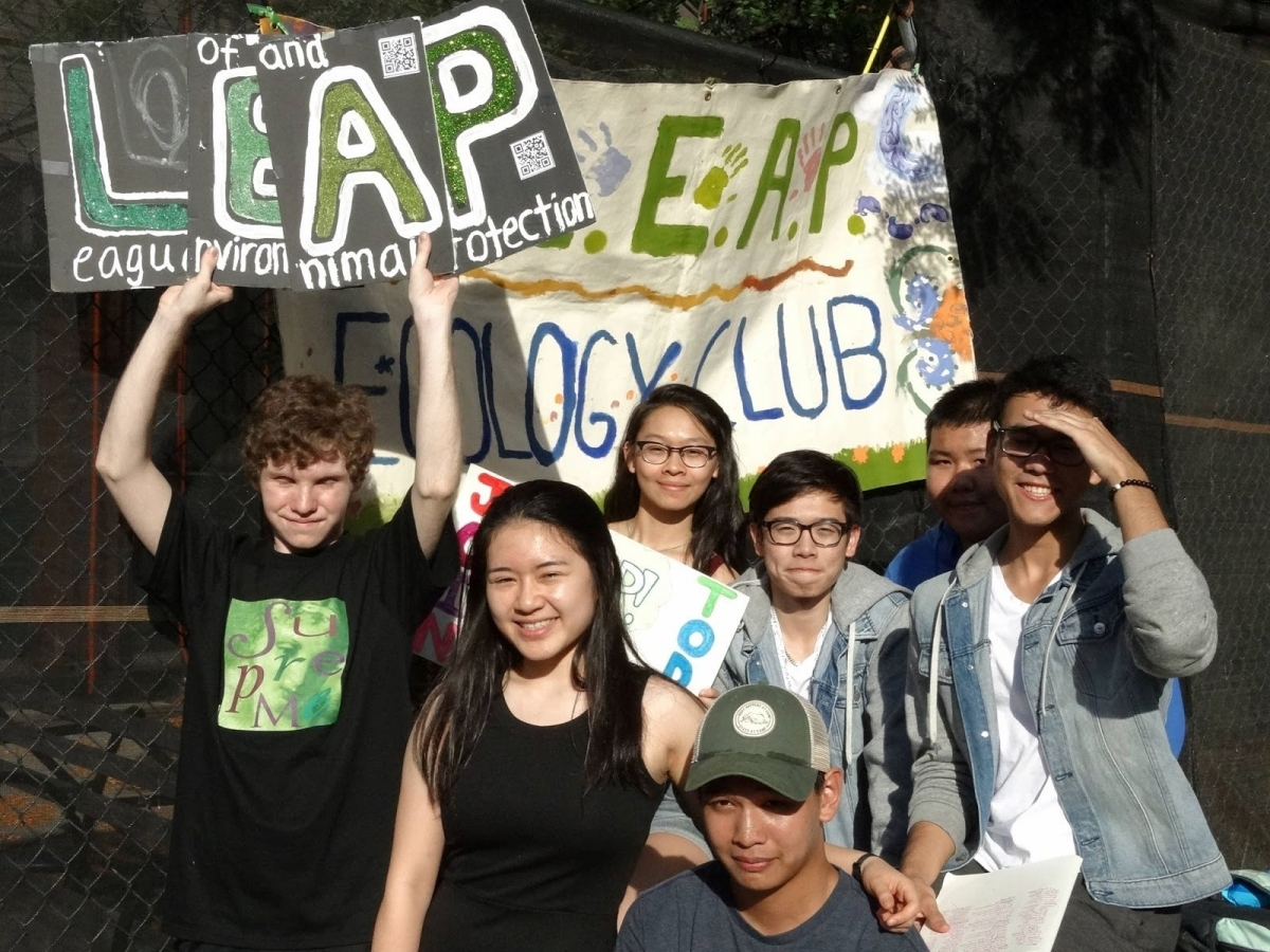 Bronx Science's LEAP Club (League of Environmental and Animal Protection Club) during club fair.