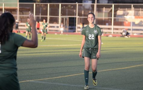 Melina Asteriadis '18 walks  off of the field during a match against Christopher Columbus High School.