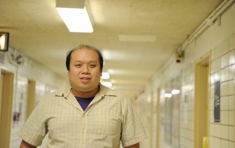 Mr. Cheung, a geometry teacher at Bronx Science, and the winner of the 2011 Pi Day pie eating contest.