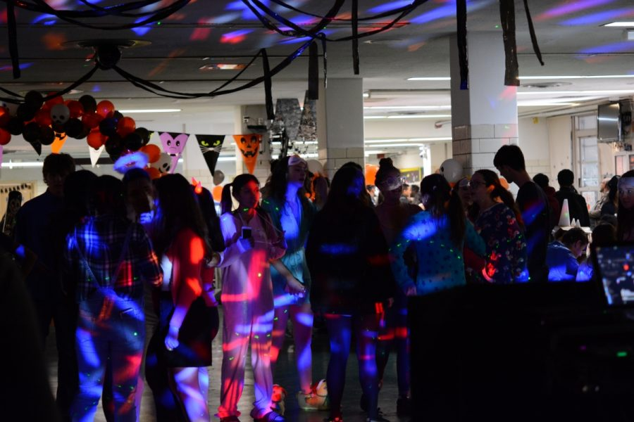 Students dance during the annual Monster Mash celebrations.