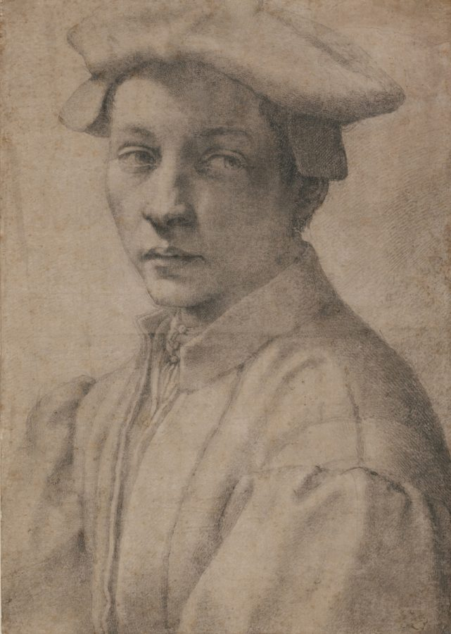 Michelangelo Buonarroti (Italian,  Caprese 1475–1564 Rome) Portrait of Andrea Quaratesi 1532 Drawing, black chalk; 16 3/16 x 11 1⁄2 in. (41.1 x 29.2 cm) The British Museum, London