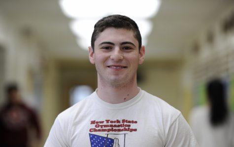 Brian Josephson '18, captain of the Boys' Varsity Gymnastics team.