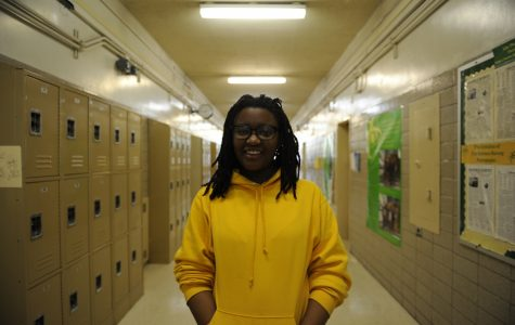 """""""Rooting for both [St. Kitts and Nevis] feels like embracing both parts of my identity,"""" said Sarane James '19."""