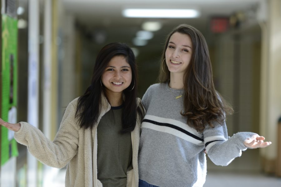 Payel (Tessa) Islam '19 (left) and Chloe Frajmund '19 (right) are heading the JProm committee, dedicated to making it an exciting event for everyone.