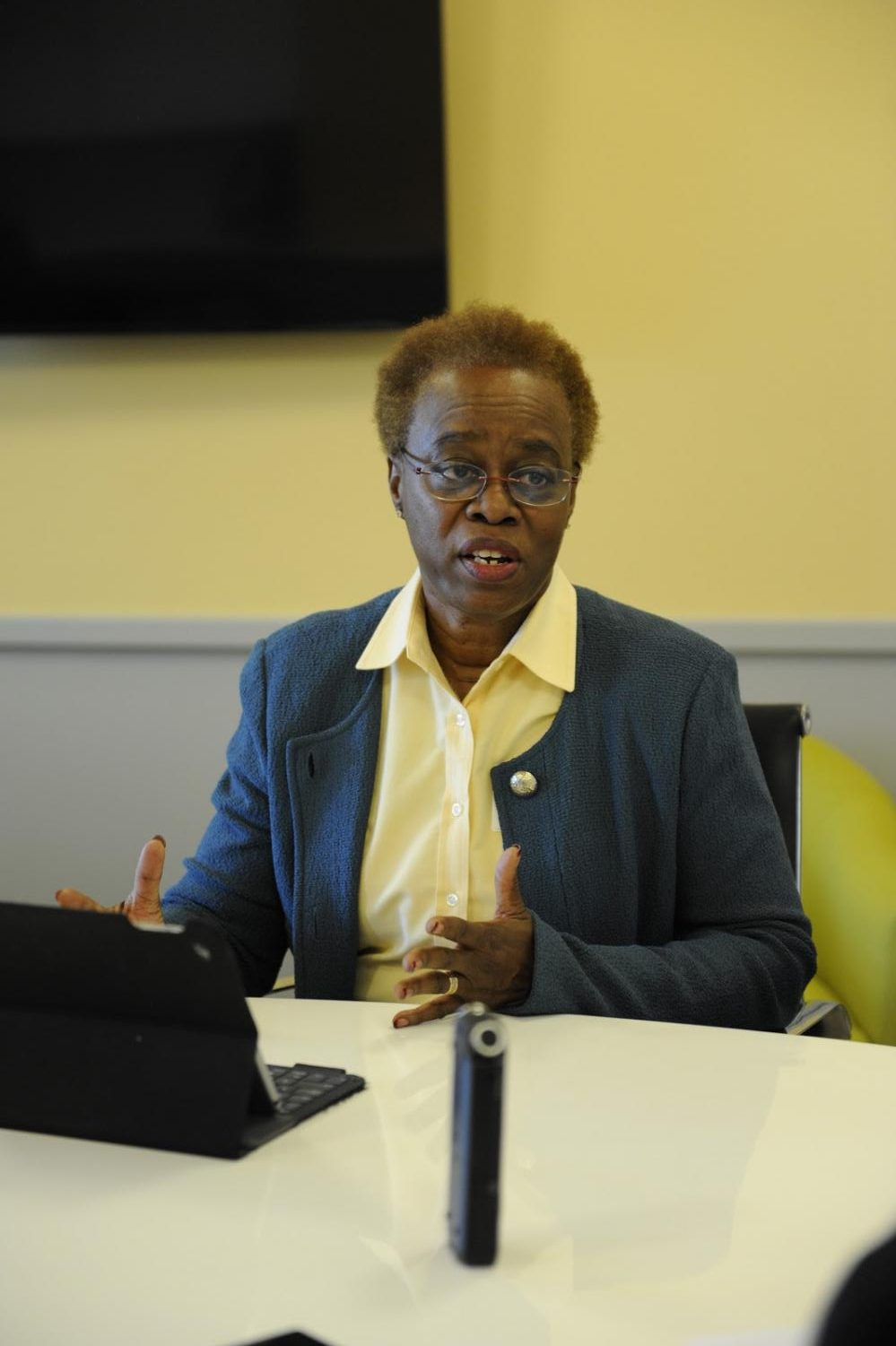 Wanda Austin offers her  knowledge and experiences in a one-on-one student interview.