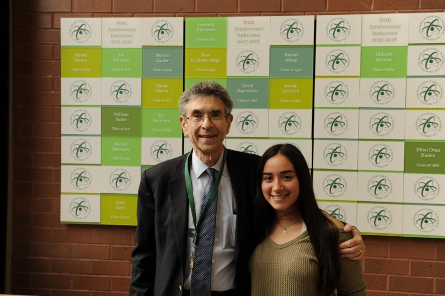 Lefkowitz poses with his Student Ambassador for the day, Alexa Asch '18.