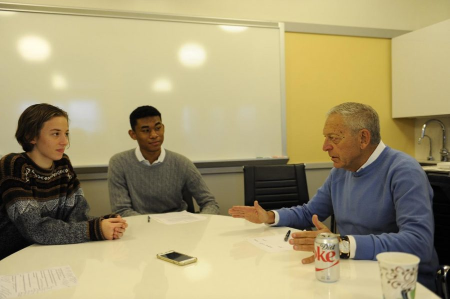 Brodsky sits down with students to talk about his time at Bronx Science.
