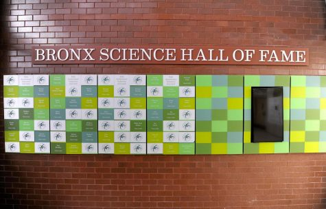 The Hall of Fame, pictured above, is an installation in the Bronx Science lobby which displays the names of esteemed alumni.