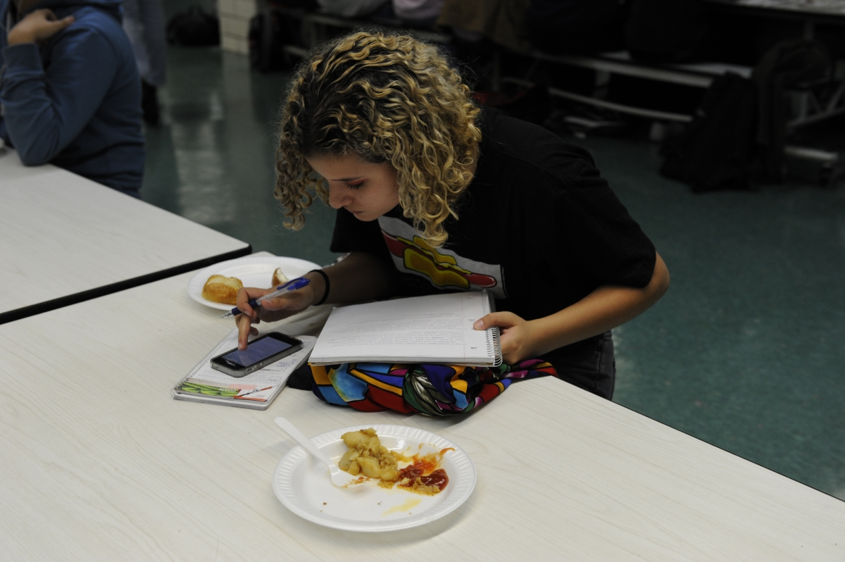 Wi-Fi access allows students to more easily catch up on schoolwork throughout the day.