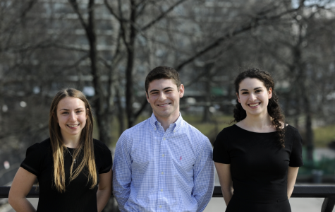 From left to right: Batya Wiener '18, Brian Josephson '18, and Maya Parness '18. All three are extremely accomplished both in and out of school.