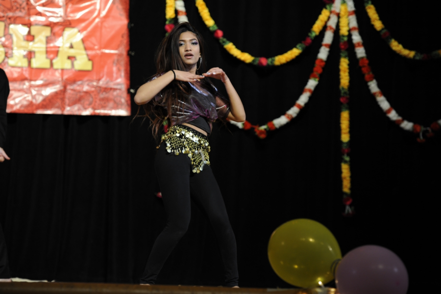 Anika Lamia '18, the secretary of NASHA of Culture Club, performs her carefully choreographed dance during the show.