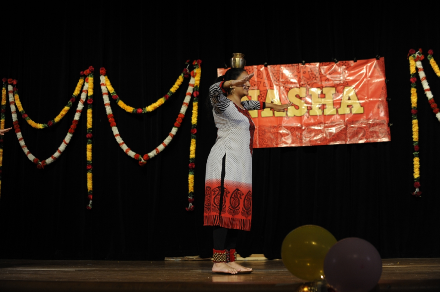 Swara Kalva '18, a member of NASHA of Culture Club.