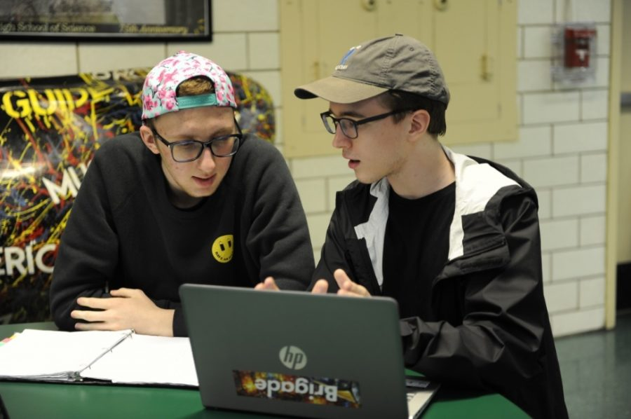 Alexander Smyk '18 and Alexander Ross '18 discuss their college admissions.
