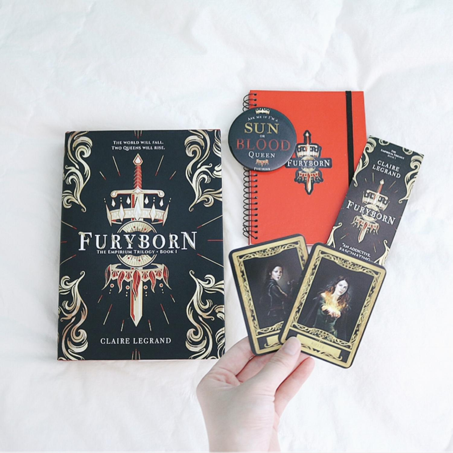 Furyborn swag was given out at Claire Legrand's book signing event.