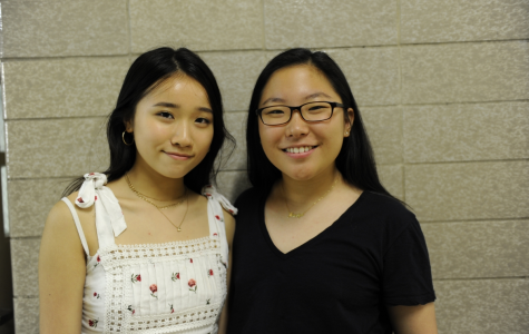 Amy Liu '19 (left) and Joselyn Kim '19 (right) appreciate Tommy Hilfiger's efforts to introduce inclusivity into the fashion industry.