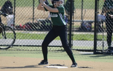 Sinaia Keith Lang '18 waits for a pitch during a Girls' Varsity Softball Game.