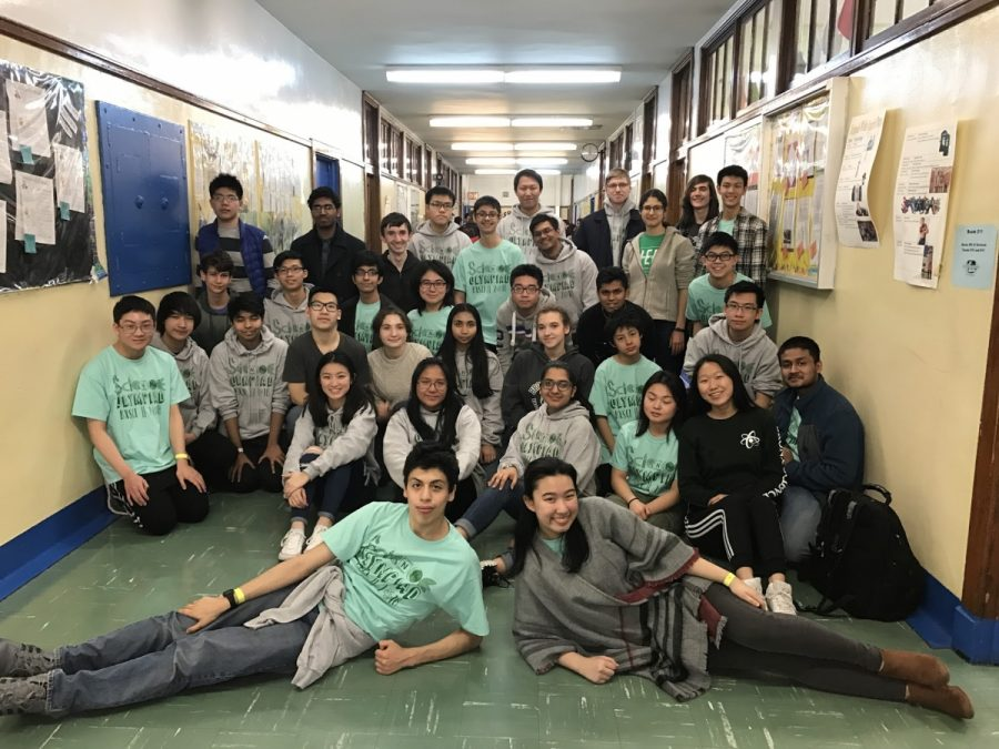 The Bronx Science Olympiad team qualified to move on to the state competition at Le Moyne College.