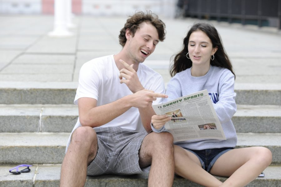 Melina Asteriadis '18 and Teddy Lowen '18, Editorial Columnists.