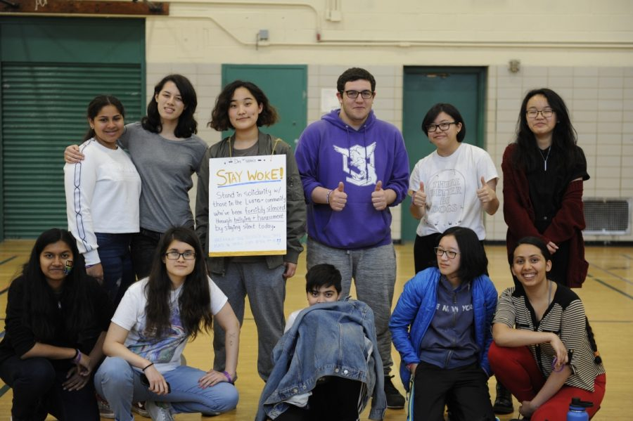 Members of the GSA and its supporters attended the 'Break the Silence' event in order to find a supportive community and dedicated participants in the Day of Silence.