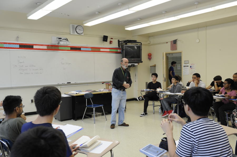 In his classes, Mr. Bausili's students ponder at his suggestion that they should engage in offensive conversation rather than report it.