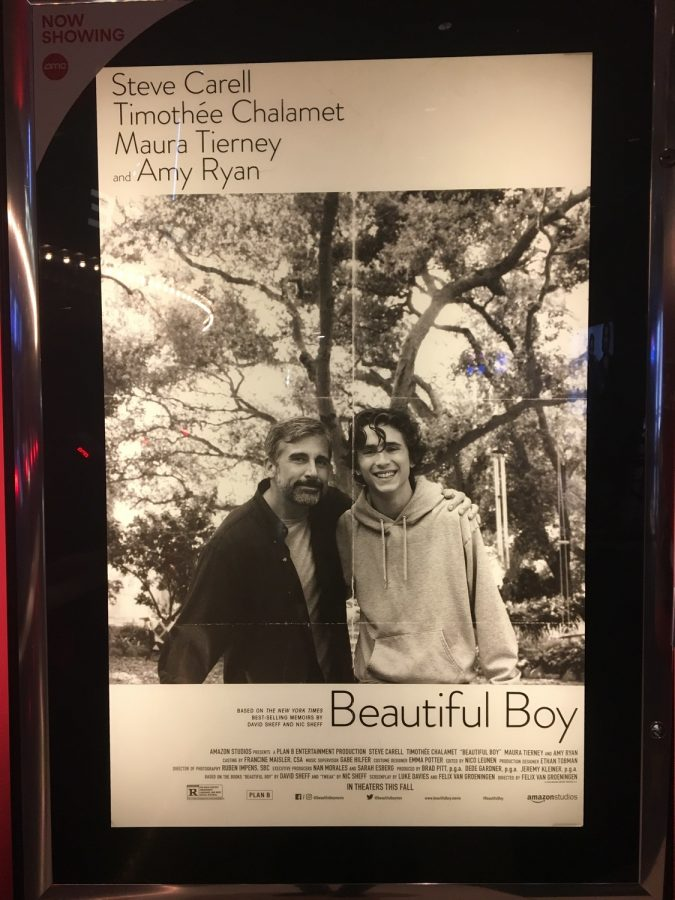 The 'Beautiful Boy' poster, at AMC Theaters.
