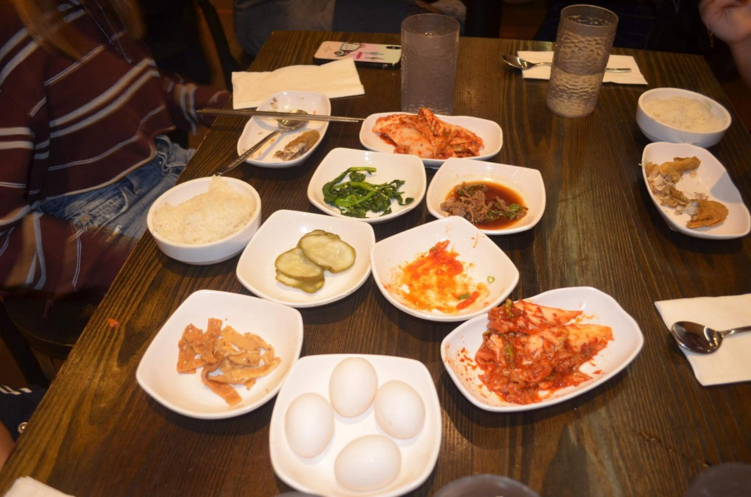 """The kimchi tofu soup consists of a raw egg, shrimps, mussels, tofu, red peppers, and beef. These simple toppings along with the steaming soup combine together to create a superb dish which exerts a spicy and savory flavor,""said Cameron Chang '20."