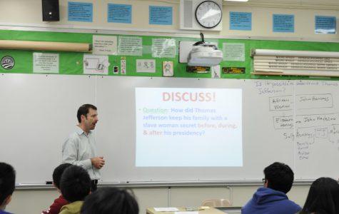 Dr. Davis teaches his Advanced Placement U.S History class.