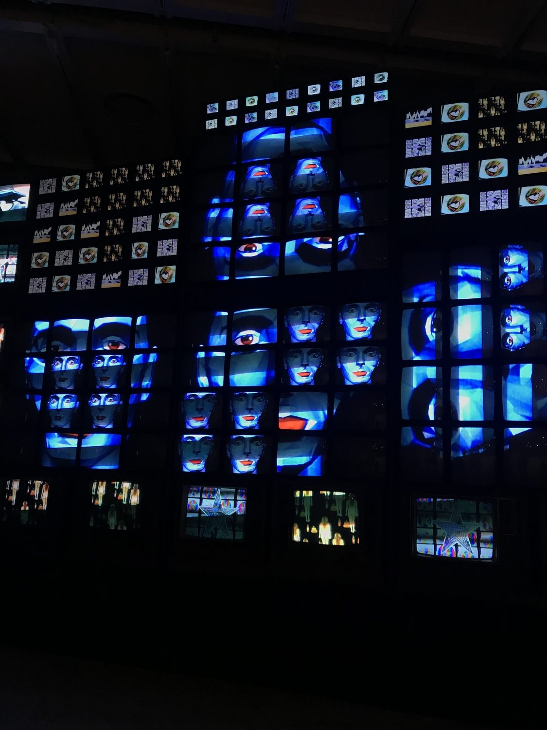 Here is the television installation 'Fin de Siecle II' by Nam June Paik.