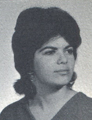 The senior portrait of Jan Alscher '66 as seen on the 1966 Bronx Science yearbook.
