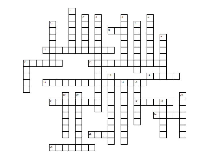Winter Crossword: Music