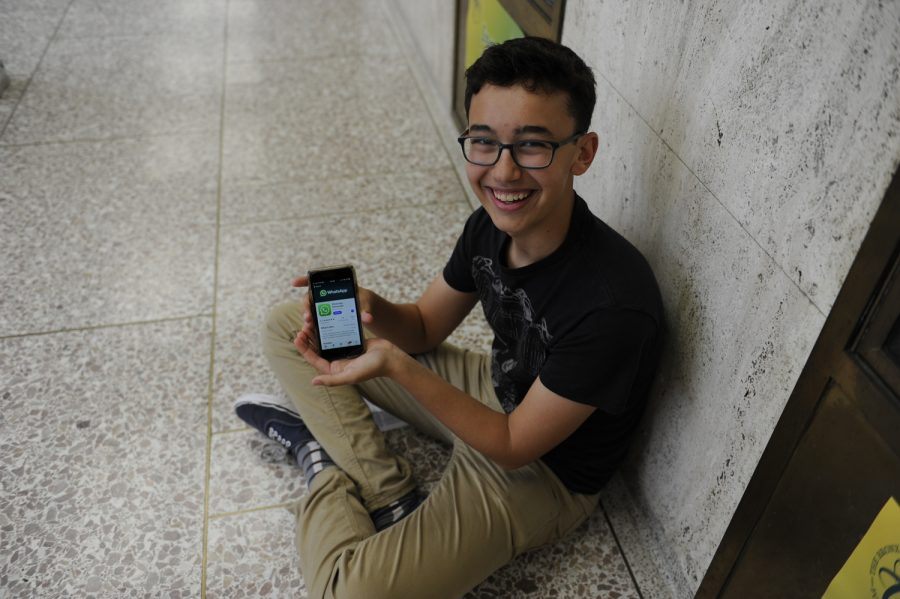 Jonathan Bar-On '20 regularly uses WeChat to communicate with friends and family abroad.