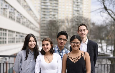 The Chamber Music Society winners for 2019 (L-R): Emily Kitmahawong '20, Ruby Hogue '20, Judge Sanchez '19, Caroline Odia '20, Blake Frank '20.