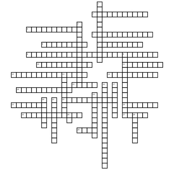 Movies Crossword