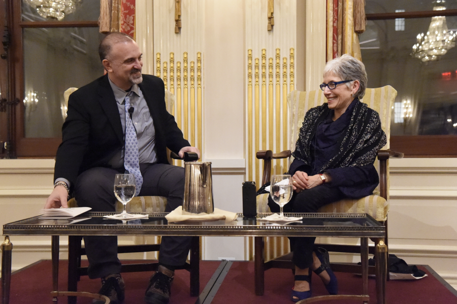 At the Student Research Celebration at the University Club in Manhattan on January 30th, 2018, the highlight of the evening was a discussion between Ms. Dava Sobel '64, award winning science writer, who interviewed  Dr. George Yancopoulos '76, Co-Founder, President and Chief Scientific Officer at Regeneron Pharmaceuticals.